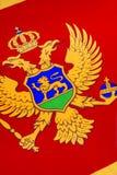 Detail über die Flagge von Montenegro - Europa Lizenzfreie Stockfotografie