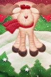 Detail über eine Weihnachtssocke Stockbilder