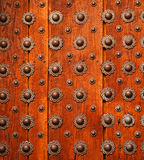 Detail über hölzerne Tür stockfotografie