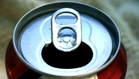 Detail. Coke pop can royalty free stock images