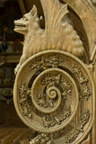 Detail of a 15/16th. century pew Royalty Free Stock Images