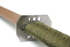 Detail aan greep van machete Royalty-vrije Stock Foto
