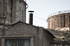 Detail of an abandoned factory Stock Image