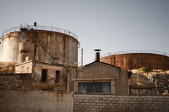 Detail of an abandoned factory Stock Photography