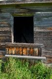 Detail of abandoned house;weathered wood wall Royalty Free Stock Images