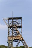 Detail of an abandoned Landek coal mine tower Royalty Free Stock Images