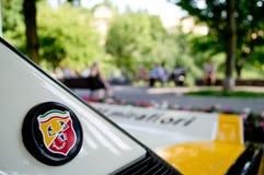 Abarth badge at Bergamo Historic Grand Prix 2017 Stock Images