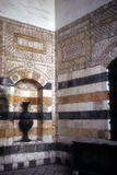 Detail ablaq style walls of Azem Palace Royalty Free Stock Photos