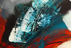 Detail of abstract acrylic painting without title