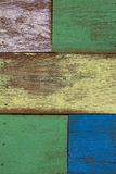 Detail of abstract art color wood wall Royalty Free Stock Photos