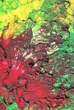 Detail of an Abstract Handpainting showing Cracks Stock Image