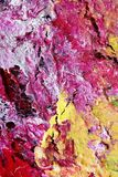 Detail of an Abstract Handpainting showing Cracks Royalty Free Stock Images