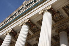Detail of Academy of Athens, Greece Royalty Free Stock Photos