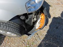 Detail of accident damage Royalty Free Stock Photo