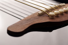 Detail of acoustic Classic Wood Guitar Stock Photos