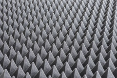Detail of Acoustic Foam in Recording Studio. Close up of Sound Absorbing Sponge in Recording Studio. Dampening Acoustical Foam in Music Studio. Acoustic Foam royalty free stock image