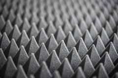 Detail of Acoustic Foam in Recording Studio royalty free stock photography