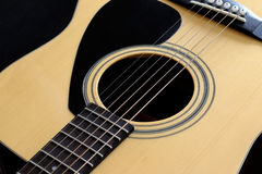 Detail of the acoustic guitar Royalty Free Stock Images