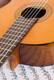 Detail of acoustic guitar Stock Image