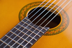 Detail of acoustic guitar Royalty Free Stock Photos
