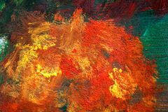 Detail from acrylic paintings in earthy tones and fall colors Royalty Free Stock Photos