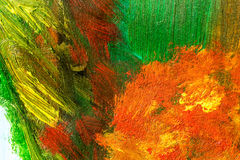 Detail from acrylic paintings in earthy tones and fall colors Stock Photography