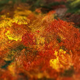 Detail from acrylic paintings in earthy tones and fall colors Stock Photos