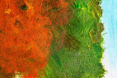 Detail from acrylic paintings in earthy tones and fall colors Royalty Free Stock Images