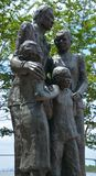 Detail of African American Monument stock image