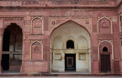 Detail of Agra Fort in India Stock Photo