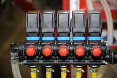 Detail of agriculture machine. Stock Photography
