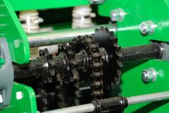 Detail of agriculture machine. Royalty Free Stock Photo