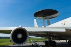 Detail of aircraft Boeing E-3A Sentry AWACS. Royalty Free Stock Photos