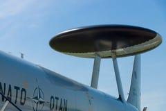 Detail of aircraft Boeing E-3A Sentry AWACS. Stock Photo