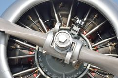 Detail of aircraft propellor Engine Stock Photos