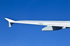 Detail of aircraft wing Royalty Free Stock Photos