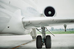 Detail of airplane in airport Stock Image