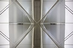 Detail of airport ceiling Royalty Free Stock Image