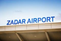 Detail of Airport in Zadar, Croatia Royalty Free Stock Images