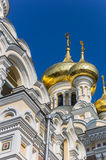 Detail of the Aleksandr Nevsky cathedral in Yalta Stock Photo