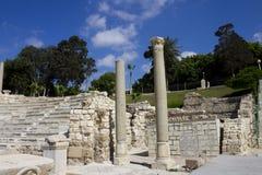 Detail of the Alexandria roman theater Royalty Free Stock Photo