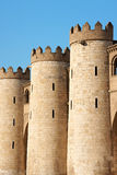 Detail of the Aljaferia Palace in Zaragoza, Spain Stock Photo