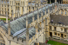 Detail of All Souls College, Oxford University, Oxford, UK. Arch Stock Photo