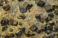 Detail of almandine crystals. Closeup detail of the natural almandine crystals royalty free stock image