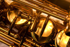 Detail of a alt saxophone Stock Photography