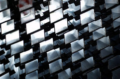 Detail of aluminium profiles Stock Images