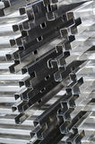 Detail of aluminium profiles Stock Image