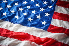Detail of American Flag Stars Stock Image