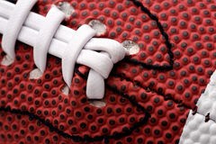 Detail of american football ball Royalty Free Stock Images