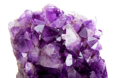 Detail of amethyst Royalty Free Stock Images